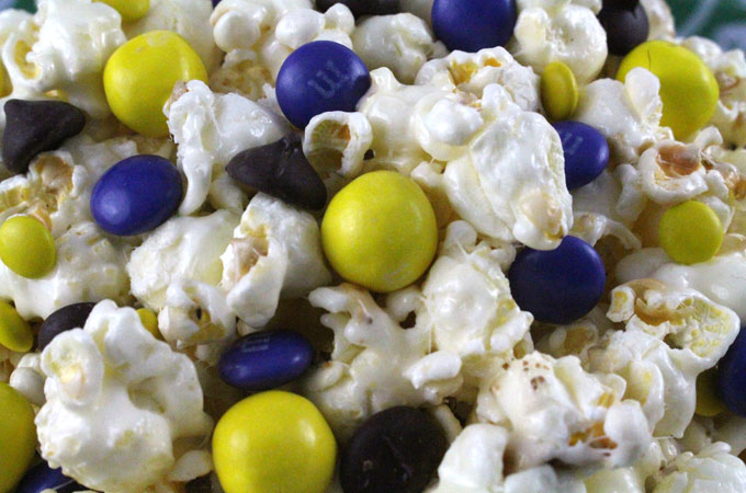 Adding candy to the Minnesota Vikings Popcorn