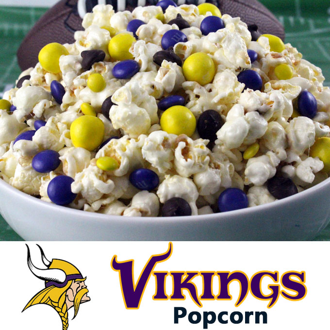 Minnesota Vikings Popcorn Two Sisters Crafting