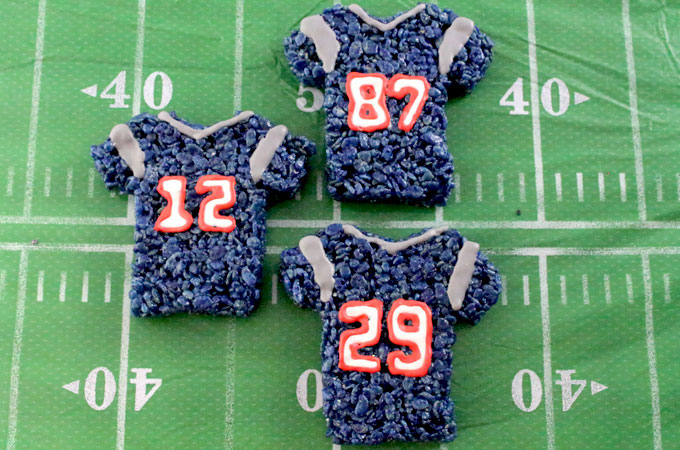 New England Patriots Rice Krispie Treats
