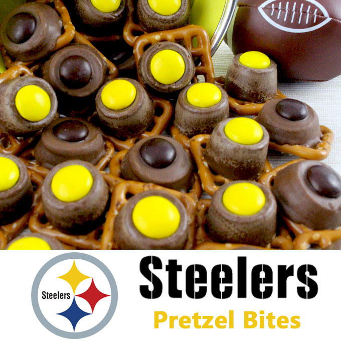 Pittsburgh Steelers Pretzel Bites - Two Sisters Crafting