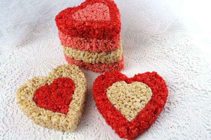 Rice Krispie Treat Valentines Two Sisters