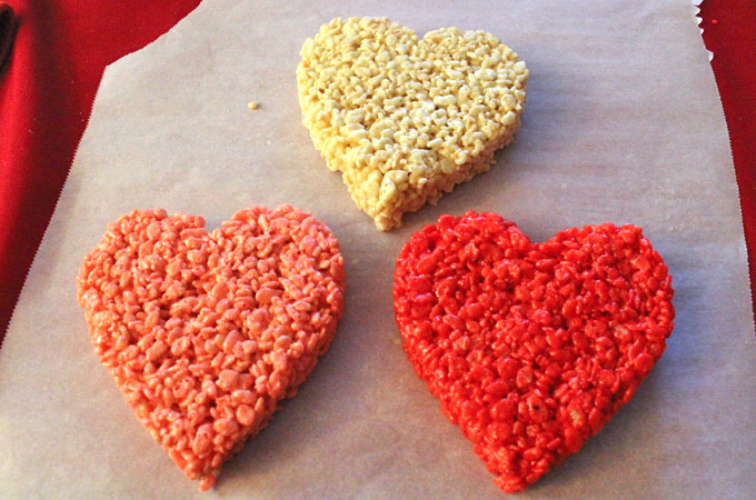 Large Rice Krispie Treat Hearts