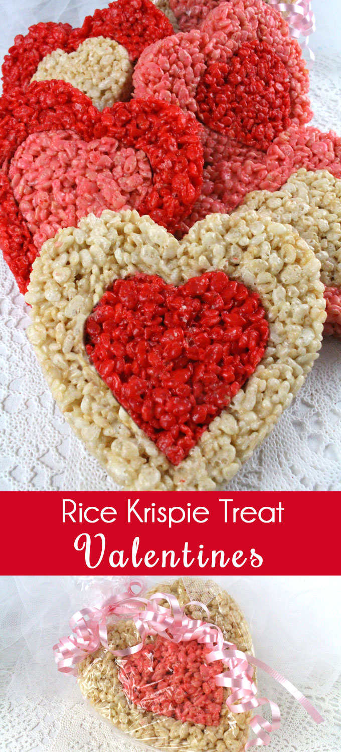 Rice Krispie Treat Valentines Two Sisters Crafting