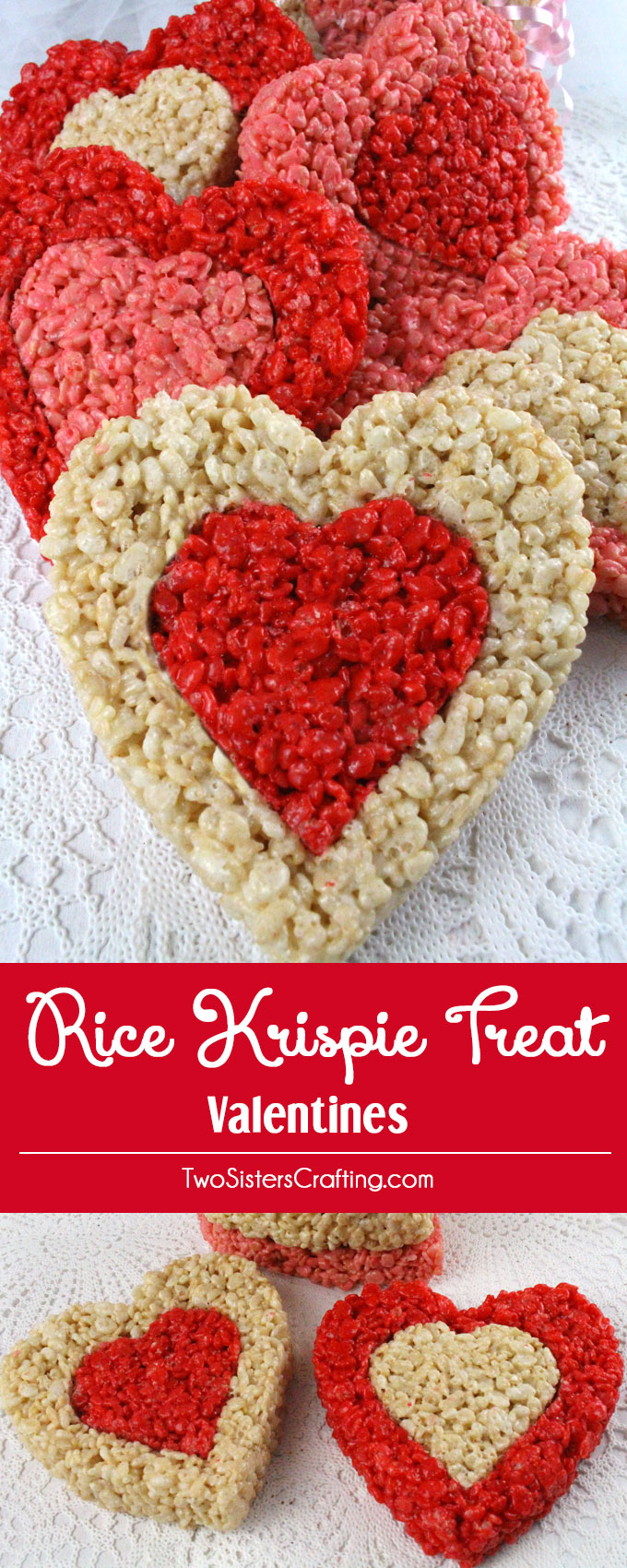 Rice Krispie Treat Valentines Two Sisters