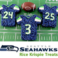 Seattle Seahawks Rice Krispie Treats