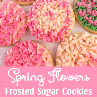 Spring Flowers Frosted Sugar Cookies