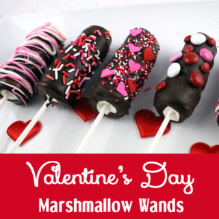 Valentines Day Marshmallow Wands