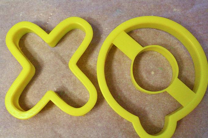 X & O Cookie Cutters
