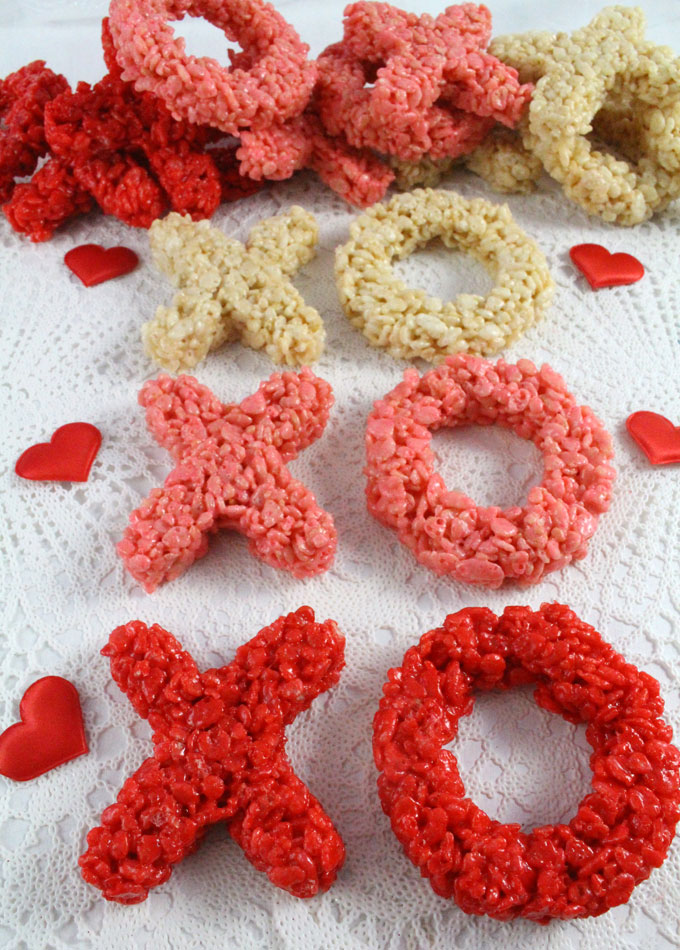 Our Ombre Colored XOXO Rice Krispie Treats Are Adorable, Delicious And Make  The Perfect Valentines