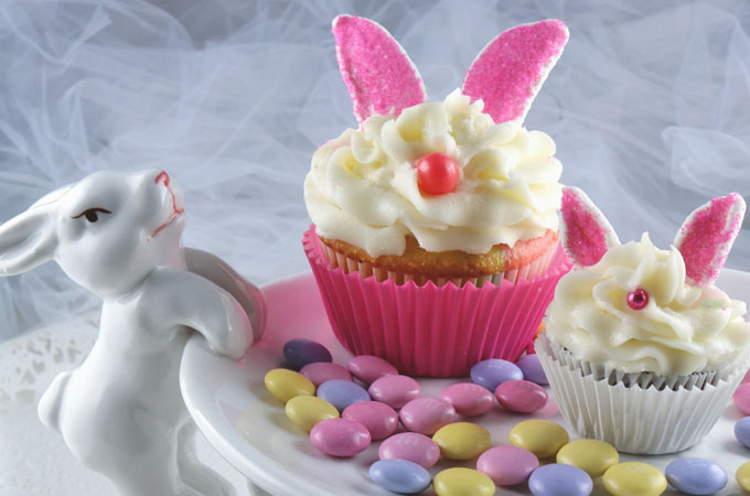 Bunny Cupcakes Two Sisters