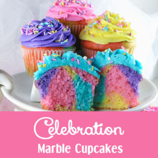 Celebration Marble Cupcakes