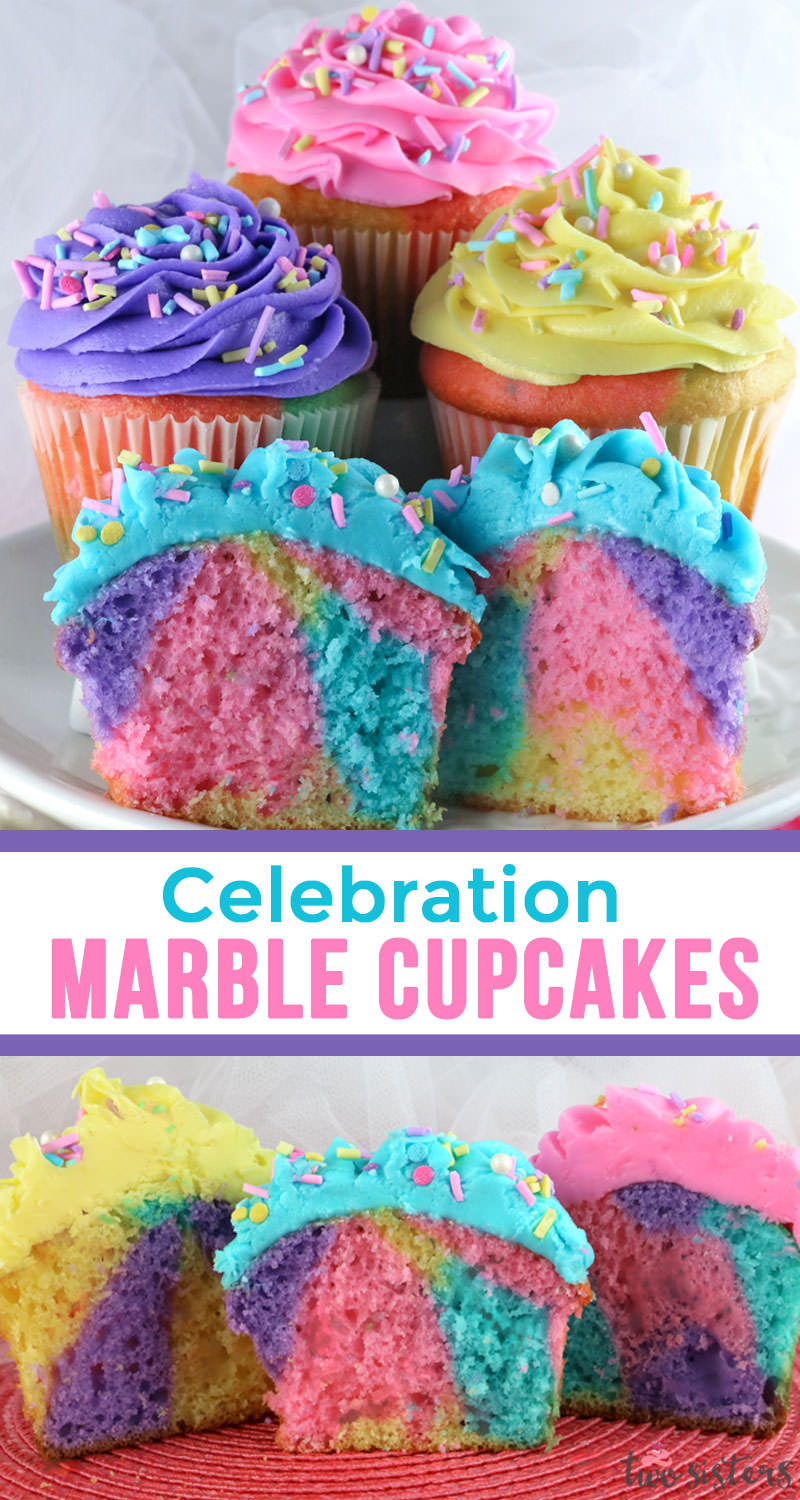 Celebration Marble Cupcakes Two Sisters