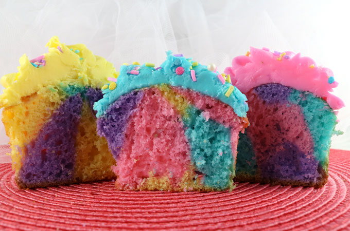How To Make Marble Cupcakes With Food Coloring