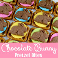 Chocolate Bunny Pretzel Bites