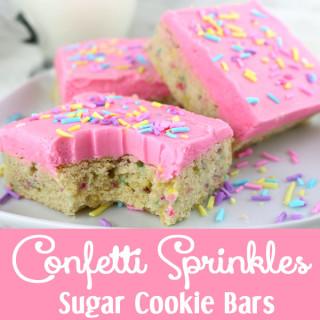 Confetti Sprinkles Sugar Cookie Bars