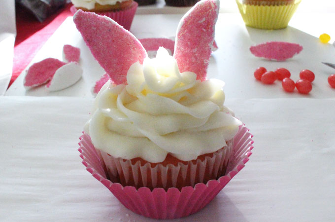 how to make rabbit cupcakes