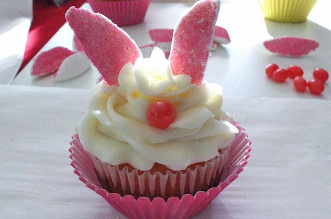 Assembling the Bunny Cupcake