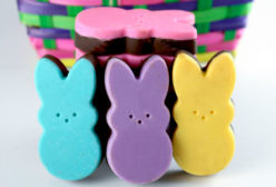Homemade Peeps Choclate Crackle Candy