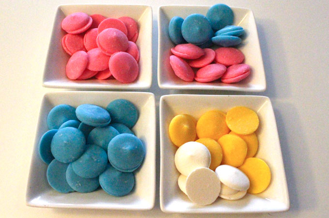 Wilton Candy Melts in Spring colors
