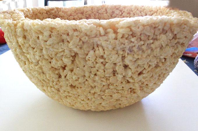 Rice Krispie Treat Easter Basket