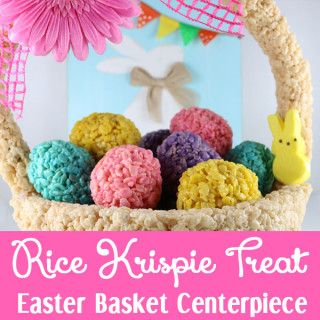 Rice Krispie Treat Easter Basket Centerpiece