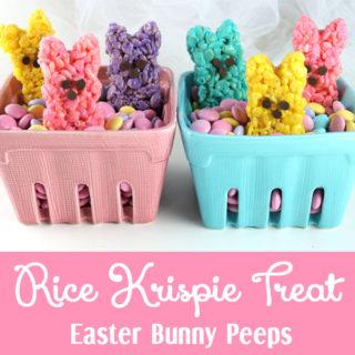 Rice Krispie Treat Easter Bunny Peeps