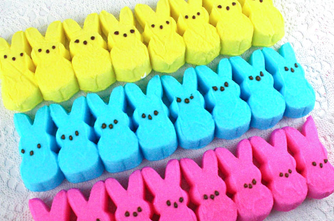 Rice Krispie Treat Easter Bunny Peeps - Two Sisters