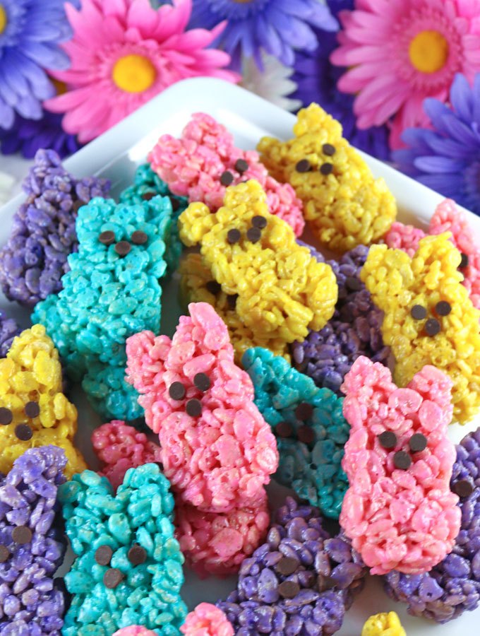 Rice Krispie Treat Easter Bunny Peeps Two Sisters