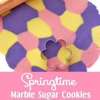Springtime Marble Sugar Cookies