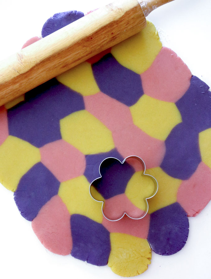 These gorgeous Springtime Marble Sugar Cookies are a unique take on traditional Sugar Cookies and will be one of your family's favorite Easter Desserts. This is a great Spring Cookie that is easy to make and tastes great too! Follow us for more fun Easter Treat ideas.