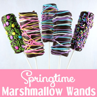 Springtime Marshmallow Wands