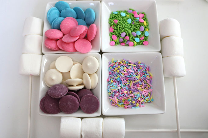 Ingredients for Springtime Marshmallow Wands