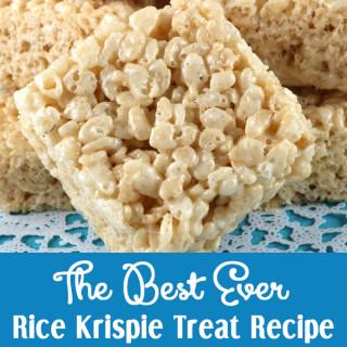 The Best Ever Rice Krispie Treat Recipe