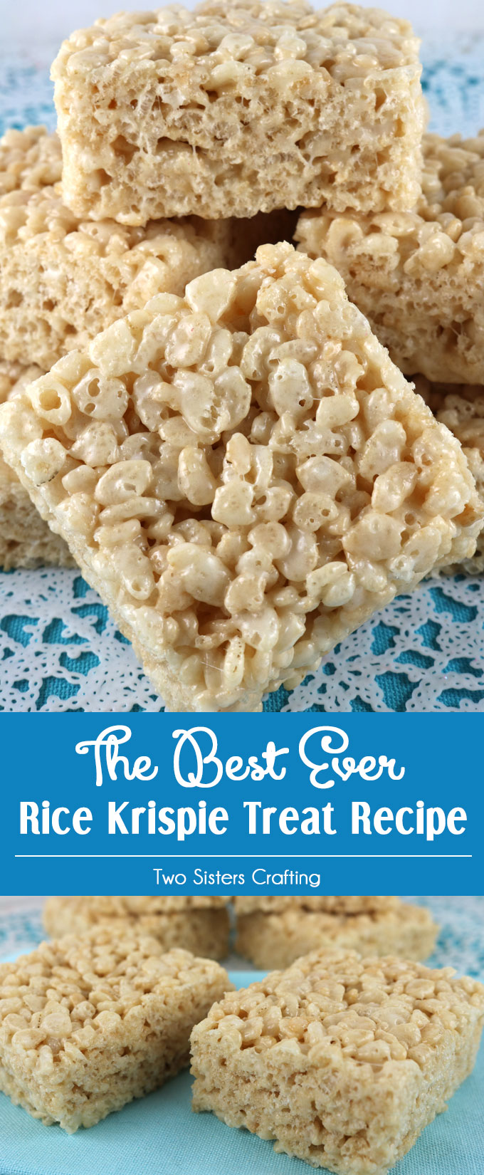 The Best Ever Rice Krispie Treat Recipe - Two Sisters