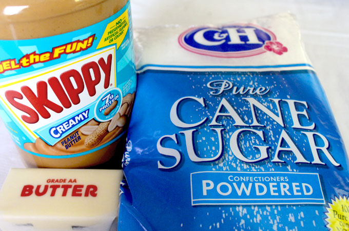 Ingredients for The Best Peanut Butter Buttercream Frosting