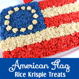 American Flag Rice Krispie Treat