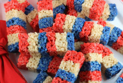 Firecracker Rice Krispie Treats