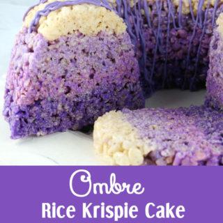 Ombre Rice Krispie Cake