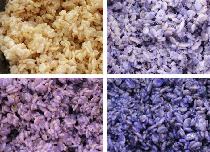 Ombre Rice Krispie Treat mixtures