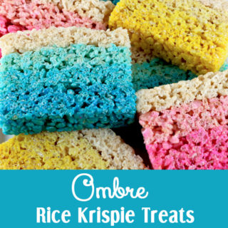 Ombre Rice Krisipe Treats