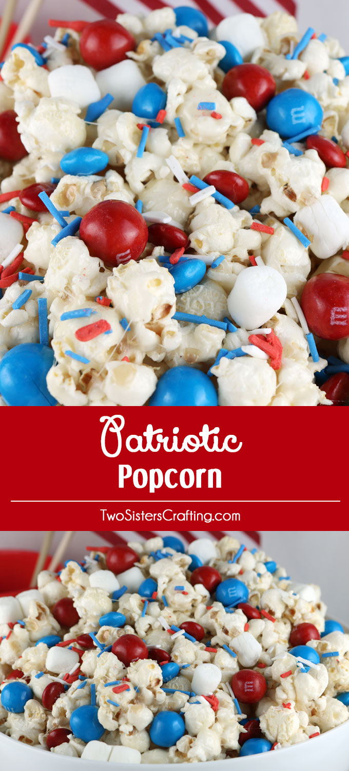 Celebrate with our Patriotic Popcorn Celebrate with our Patriotic Popcorn - a fun 4th of July Dessert that is both sweet and salty and chock full of Red White and Blue Candy. This yummy Fourth of July treat is super delicious and so easy to make. It would be great at a 4th of July Party, a Memorial Day barbecue or an Olympics viewing party. Pin this yummy 4th of July popcorn recipe for later and follow us for more great 4th of July Food Ideas.- a fun 4th of July Dessert that is both sweet and salty and chock full of Red White and Blue Candy. This yummy Fourth of July treat is super delicious and so easy to make. It would be great at a 4th of July Party, a Memorial Day barbecue or an Olympics viewing party. Pin this yummy 4th of July snack for later and follow us for more great 4th of July Food Ideas.