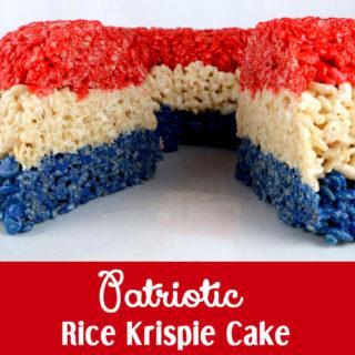 Patriotic Rice Krispie Cake
