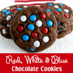 Red White and Blue Chocolate Cookies