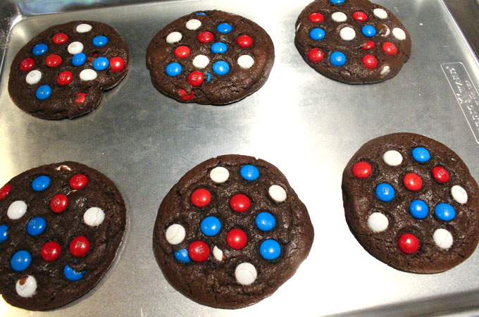 Bake the Red White and Blue Chocolate Cookies