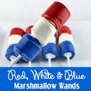 Red White and Blue Marshmallow Wands