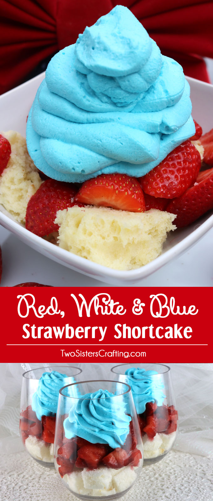 and party guests with our Red White and Blue Strawberry Shortcake ...