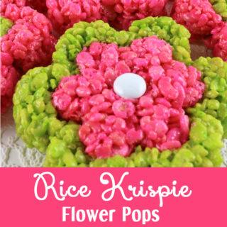 Rice Krispie Flower Pops