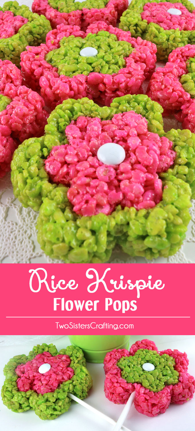 Rice Krispie Flower Pops