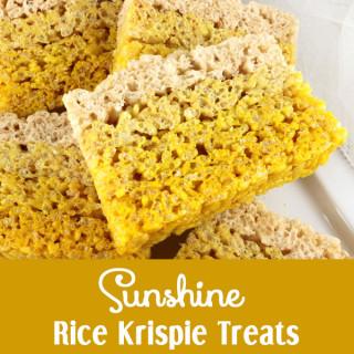 Sunshine Rice Krispie Treats