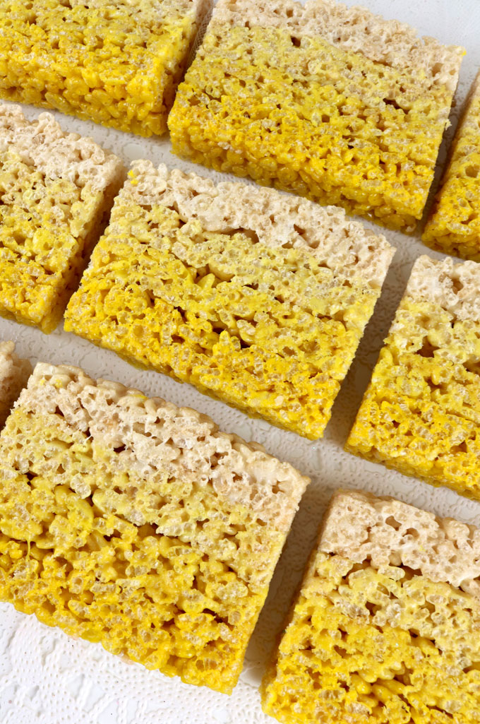 how to cut rice krispie treats neatly
